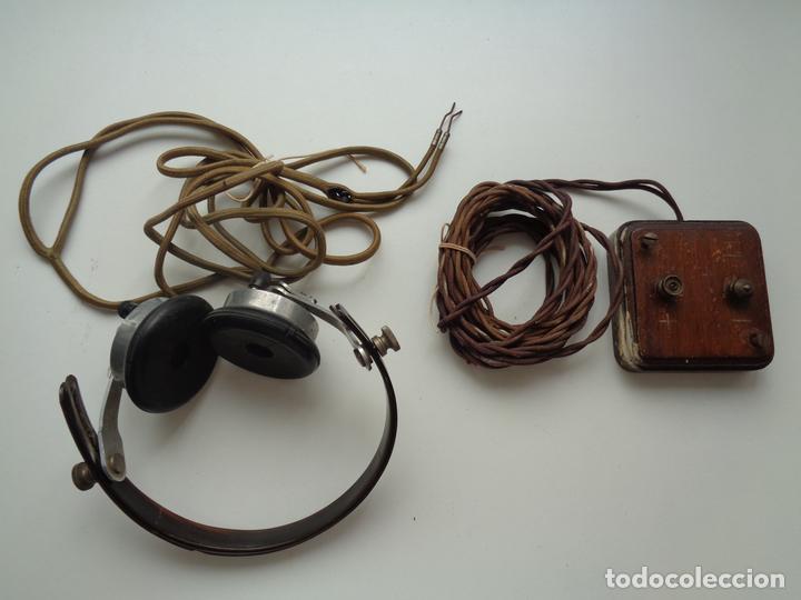 AURICULARES CON ACCESORIOS.2ª GUERRA MUNDIAL (Radios, Gramófonos, Grabadoras y Otros - Transistores, Pick-ups y Otros)