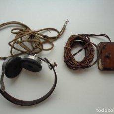 Radios antiguas: AURICULARES CON ACCESORIOS.2ª GUERRA MUNDIAL. Lote 95640019