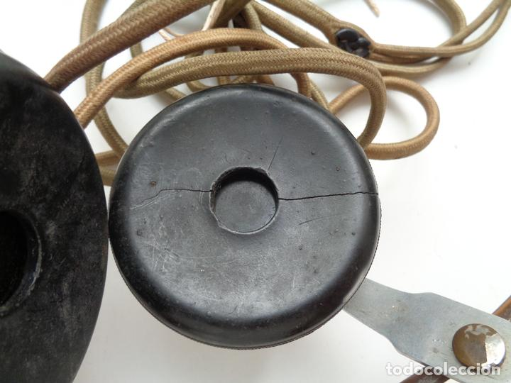 Radios antiguas: AURICULARES CON ACCESORIOS.2ª GUERRA MUNDIAL - Foto 5 - 95640019