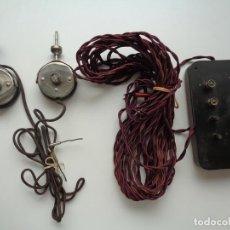 Radios antiguas: PAREJA DE AURICULARES CON ACCESORIOS. Lote 95640423