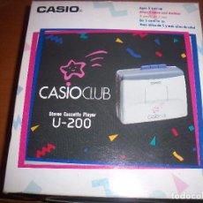 Radios antiguas: WALKMAN CASIO CASIOCLUB U-200. EN SU CAJA Y SIN USAR. . Lote 95839991