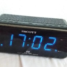 Radios antiguas: RADIO RELOJ DIGITAL SCOTT CSX98. Lote 95941719
