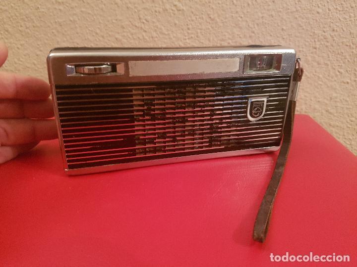 ANTIGUA RADIO TRANSISTOR PHILIPS VINTAGE PORTABLE (Radios, Gramófonos, Grabadoras y Otros - Transistores, Pick-ups y Otros)