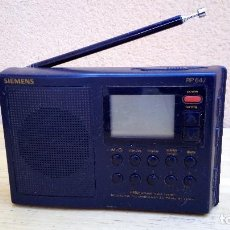 Radios antiguas: RADIO TRANSISTOR MULTIBANDA SIEMENS RP 647 FUNCIONANDO. Lote 97093411