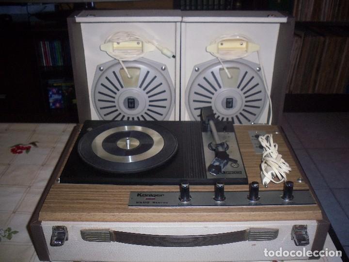 TOCADISCOS PORTATIL KONIGER FARO 2500 STEREO CON 2 ALTAVOCES DIVISIBLES . FUNCIONANDO. VER DETALLES. (Radios, Gramófonos, Grabadoras y Otros - Transistores, Pick-ups y Otros)