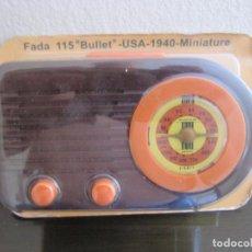 Radios antiguas: RADIO FADA 115 BULLET - USA - 1940 - COLECCIÓN RADIOS DE ANTAÑO - PRECINTADO. Lote 98649879