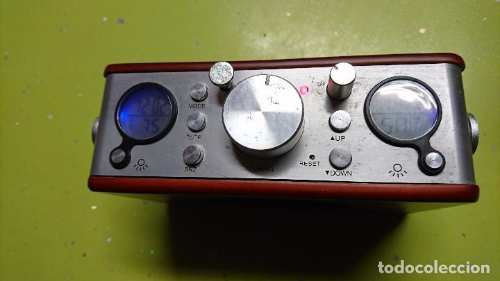 Radios antiguas: RADIO TRANSISTOR, CON RELOJ, TERMÓMETRO, FECHA... - Foto 3 - 98718271