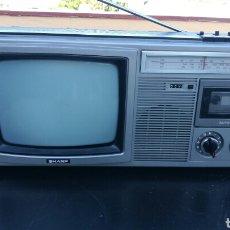 Radios antiguas: TELEVISIÓN CASSETTE Y RADIO ANTIGUA SHARP.. Lote 98801527