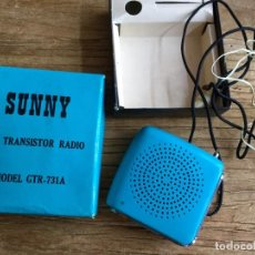 Radios antiguas: RADIO TRANSISTOR ANTIGUO MARCA SUNNY. Lote 100314943