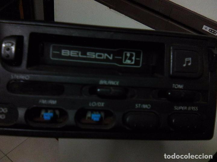 Radios antiguas: Radio Cassette para automovil Belson BS-165 - Reproductor cintas coche Vintage 80´s radiocassette - Foto 3 - 101809343