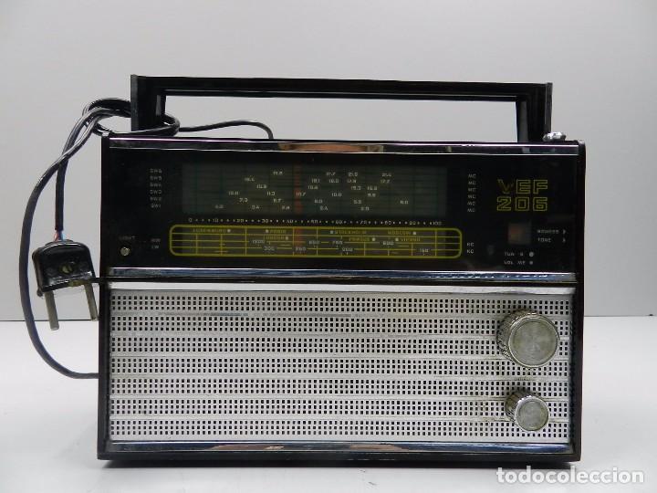 ANTIGUA TRANSISTOR RADIO VEF 206 UNIÓN SOVIÉTICA AÑOS 60 ERA COMUNISTA (Radios, Gramófonos, Grabadoras y Otros - Transistores, Pick-ups y Otros)