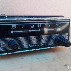 Radios antiguas: RADIO TRANSISTOR MARCONI PARA COCHE ANTIGUO NO PROBADO. Lote 102745631
