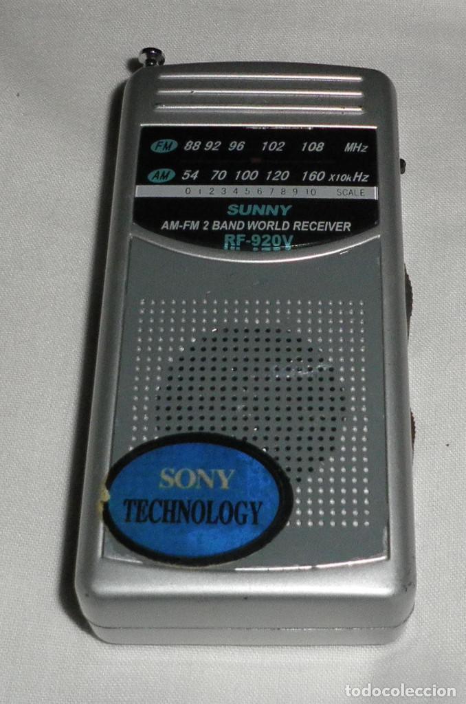 RADIO SONY SUNNY REF. 920V (Radios, Gramófonos, Grabadoras y Otros - Transistores, Pick-ups y Otros)