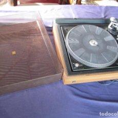 Radios antiguas: TOCADISCOS DE MADERA, PARA VINILOS, MARCA DUAL, VINTAGE, CON TAPA Y FUNCIONANDO BIEN. Lote 103572703