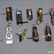 Radios antiguas: ANTIGUO LOTE / PORTA CAPSULAS Y CAPSULAS / DE GIRADISCOS / TOCADISCOS - MARCAS VARIAS - HAZ OFERTA. Lote 103973019