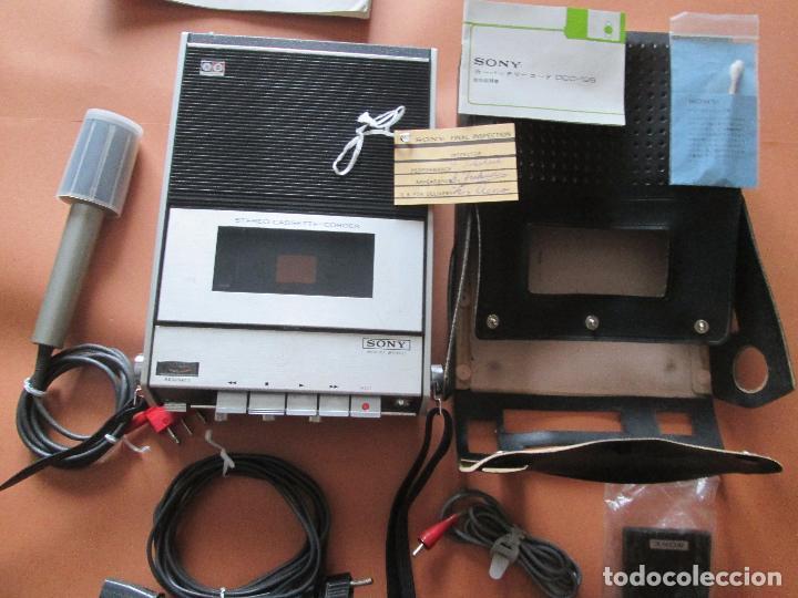 CASSETTE STEREO-SONY TC- 124CS-ANTIGUO.C.1970-COMPLETO-MALETA-ALTAVOCES-MÍNIMO USO-VER FOTOS (Radios, Gramófonos, Grabadoras y Otros - Transistores, Pick-ups y Otros)