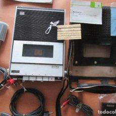 Radios antiguas: CASSETTE STEREO-SONY TC- 124CS-ANTIGUO.C.1970-COMPLETO-MALETA-ALTAVOCES-MÍNIMO USO-VER FOTOS. Lote 104043851