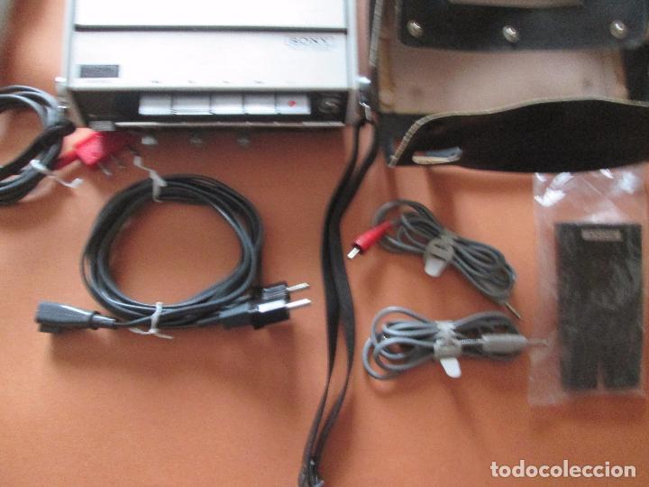 Radios antiguas: cassette stereo-sony tc- 124cs-antiguo.c.1970-completo-maleta-altavoces-mínimo uso-ver fotos - Foto 8 - 104043851