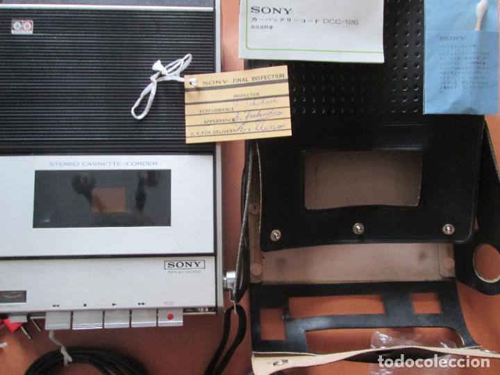 Radios antiguas: cassette stereo-sony tc- 124cs-antiguo.c.1970-completo-maleta-altavoces-mínimo uso-ver fotos - Foto 15 - 104043851