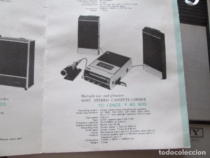 Radios antiguas: cassette stereo-sony tc- 124cs-antiguo.c.1970-completo-maleta-altavoces-mínimo uso-ver fotos - Foto 20 - 104043851