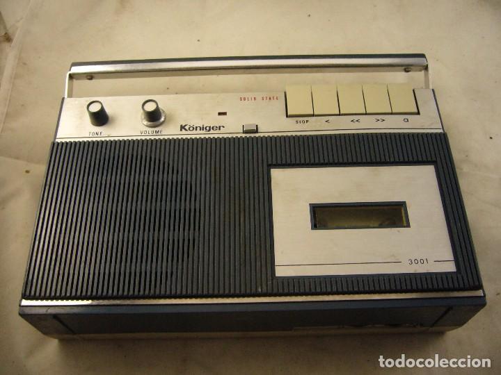 RADIO KÖNIGER 3001 - CASETES. SPANISH RECEIVER. (Radios, Gramófonos, Grabadoras y Otros - Transistores, Pick-ups y Otros)