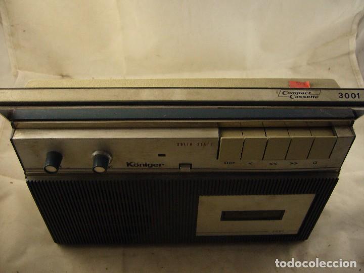 Radios antiguas: RADIO KÖNIGER 3001 - Casetes. SPANISH RECEIVER. - Foto 4 - 104133883