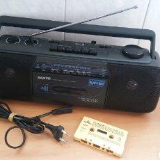 Radios antiguas: RADIO CASSETTE STEREOFONICO SANYO. REVISADO,VERIFICADO Y FUNCIONADO.. Lote 104271183