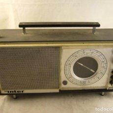 Radios antiguas: RADIO INTER NIZA II FM NEGRO FUNCIONANDO 220V VINTAGE ESPAÑA RETRO AÑOS 70 SIN PROBAR. Lote 104280123