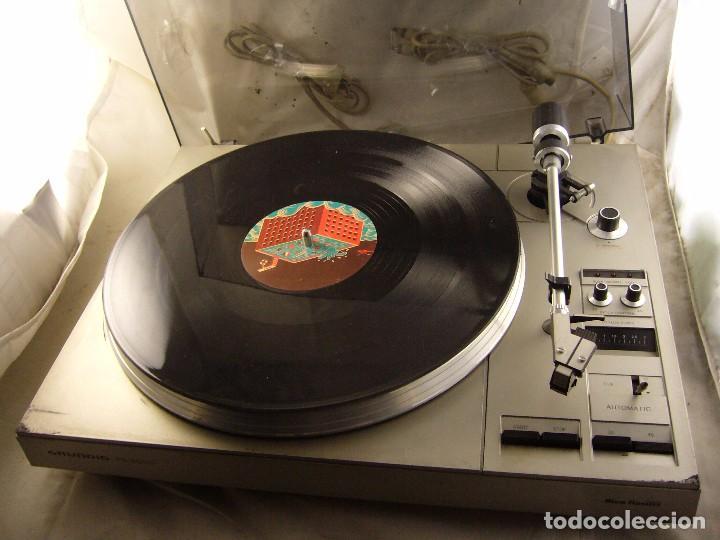 Radios antiguas: Tocadiscos giradiscos plato grundig ps 3000 Sin Probar, Tapa Rota - Foto 5 - 104858515