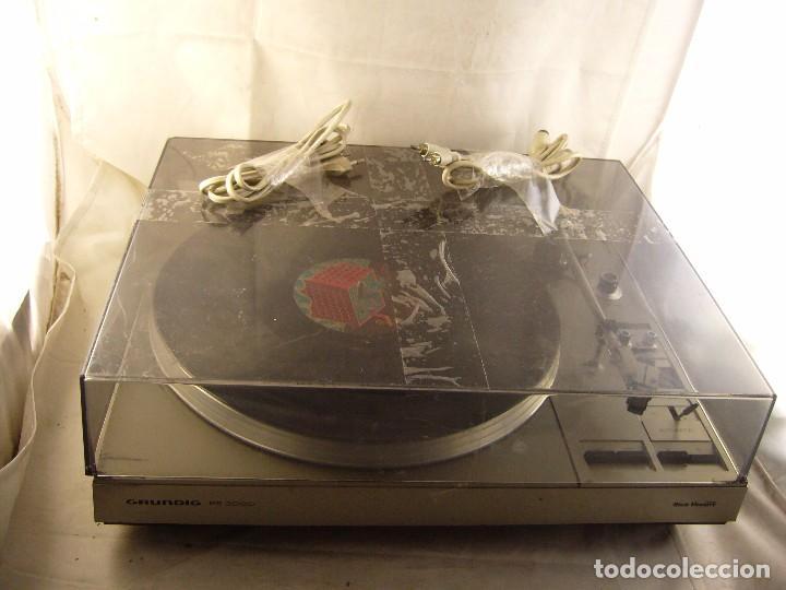 Radios antiguas: Tocadiscos giradiscos plato grundig ps 3000 Sin Probar, Tapa Rota - Foto 9 - 104858515