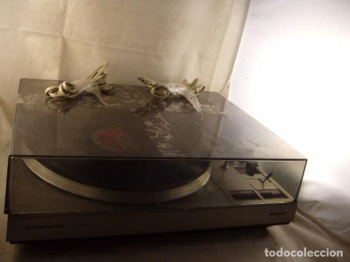 Radios antiguas: Tocadiscos giradiscos plato grundig ps 3000 Sin Probar, Tapa Rota - Foto 11 - 104858515