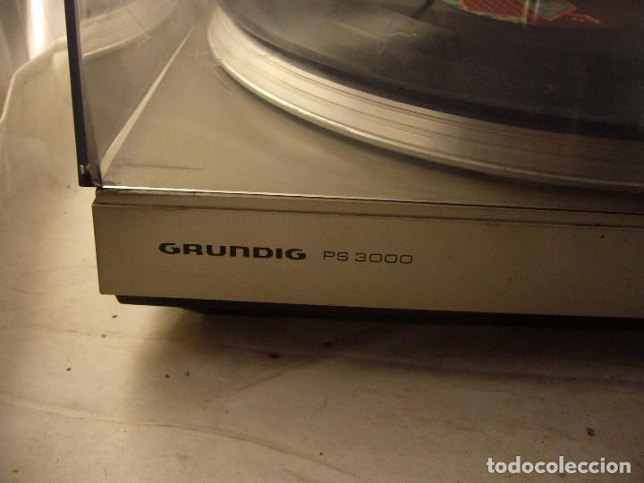 Radios antiguas: Tocadiscos giradiscos plato grundig ps 3000 Sin Probar, Tapa Rota - Foto 12 - 104858515
