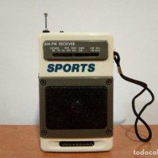 Radios antiguas: 90-RADIO TRANSISTOR DE MANO SPORTS. Lote 105804651