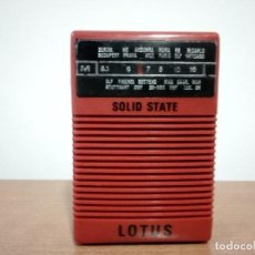 Radios antiguas: 138-RADIO TRANSISTOR DE MANO LOTUS. Lote 105830475