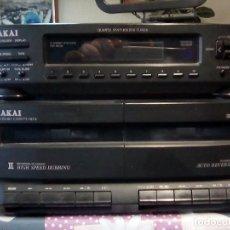 Radios antiguas: EQUIPO SONIDO - AKAI - CON DOBLE PLETINA Y SINTETIZADOR MODELONº AC-MX93-T. Lote 105863539