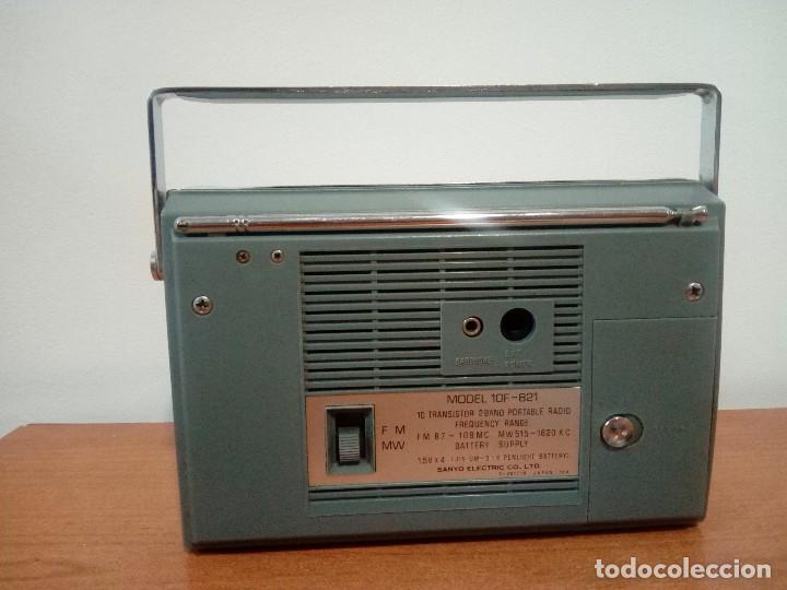 Radios antiguas: Radio transistor Sanyo Cantino 10f-821 - Foto 3 - 105888423