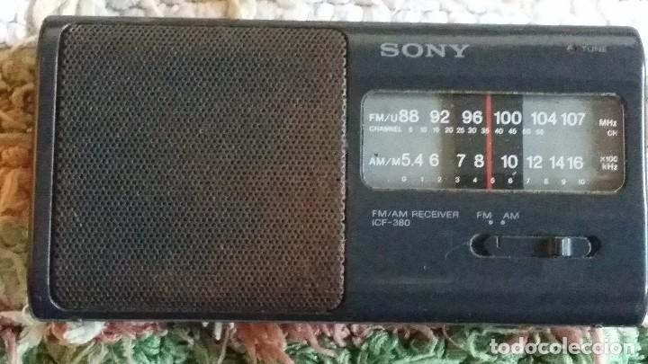 Radios antiguas: sony radio FM/AM receiver ICF 380 - Foto 1 - 106748175