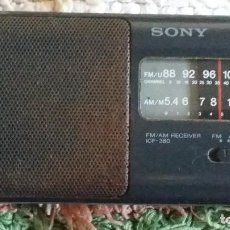 Radios antiguas: SONY RADIO FM/AM RECEIVER ICF 380. Lote 106748175