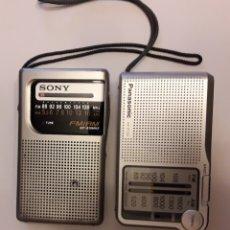 Radios antiguas: LOTE DE 2 TRANSISTORES A PILAS. Lote 107318758