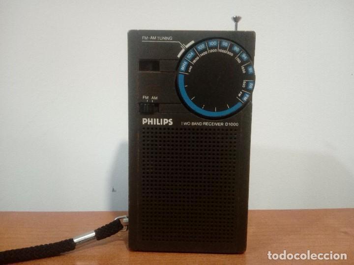 43-RADIO TRANSISTOR PHILIPS D1000 (Radios, Gramófonos, Grabadoras y Otros - Transistores, Pick-ups y Otros)
