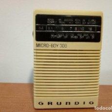 Radios antiguas: 137-RADIO TRANSISTOR GRUNDIG MICRO BOY300. Lote 107513287