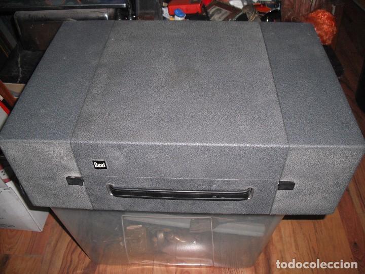 Radios antiguas: Tocadiscos de maleta Dual P1010 AV52 con altavoces funcionando 220 V - - Foto 8 - 107593171
