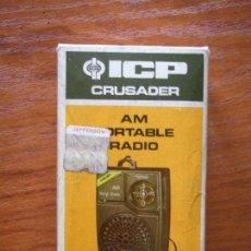 Radios antiguas: RADIO TRANSISTOR ICP CRUSADER MODELO 910 COMO NUEVO EN CAJA. Lote 107827551