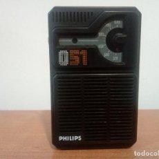 Radios antiguas: RADIO TRANSISTOR PHILIPS 051. Lote 108778439