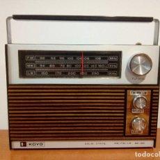 Radios antiguas: RADIO TRANSISTOR KOYO SOLID STATE. Lote 109593599