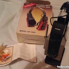 Radios antiguas: OCASION ANTIGUOS AURICULARES CON RADIO ORIGINALES VINTAGE AÑOS 80. Lote 109894435