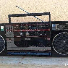 Radios antiguas: RADIO TRANSISTOR CASSETTE DOBLE PLETINA MARCA SANKEI MODELO TOP 80H RADIO FUNCIONA CASSETTE NO. Lote 110045015
