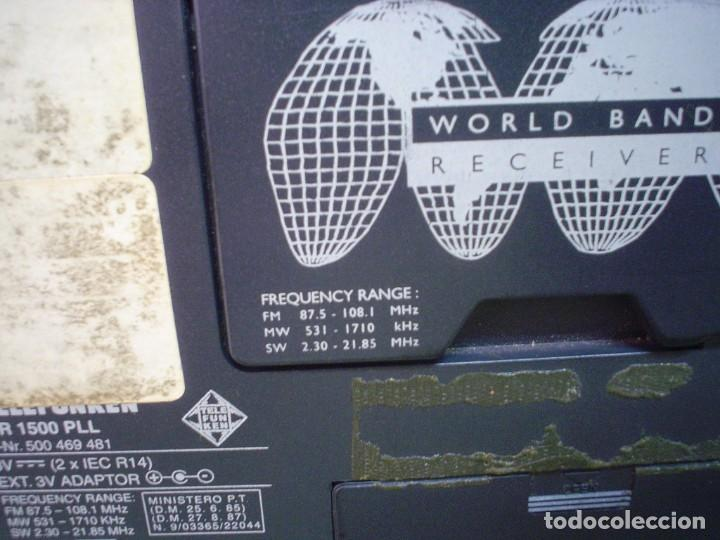 Radios antiguas: RADIO MULTIBANDAS TELEFUNKEN MR-1500 PLL - Foto 8 - 110411803