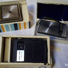 Radios antiguas: LOTE 3 TRANSISTORES CON CAJA ORIGINAL. Lote 110811599