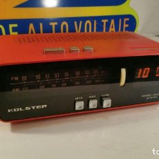Radios antiguas: RADIO DESPERTADOR KOLSTER DIGITAL - FABRICADA POR CECSA 125 Y 220 V FUNCIONANDO. Lote 111283007